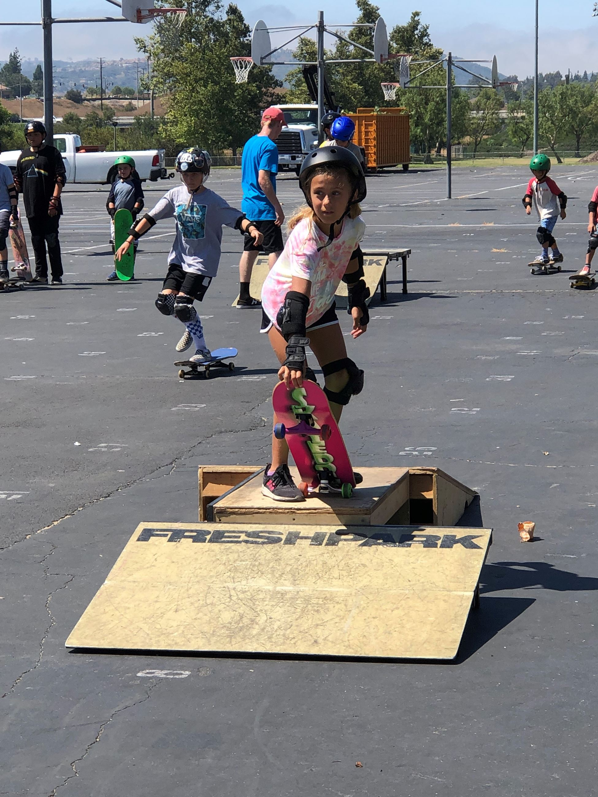 little groms - Girl Skateboarder